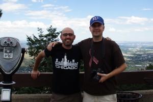 Mig og Damen på toppen af Lookout Mountain
