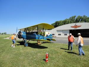 Piloten klargør motoren inden vi starter op