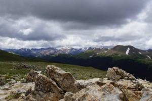 Udsigten fra toppen af Alpine Ridge Trail