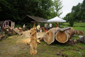 Besøg hos træskæren