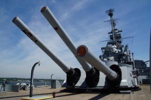 Kanonerne på USS Massachusetts