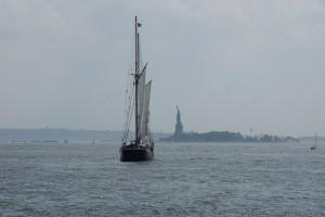 Sejlskib i Hudson River