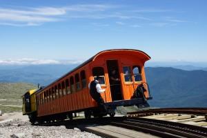 Toget til toppen ankommer