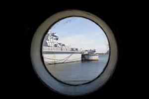 USS Massachusetts i sigte