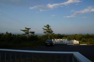 Udsigten fra vores hotel i Bar Harbor