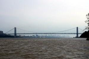 Hudson River og Washington Bridge