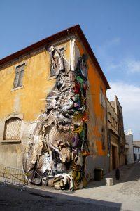 Kunstværket Half Rabbit af Bordalo II