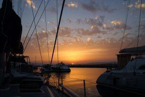Solnedgang over Gibraltar lufthavn