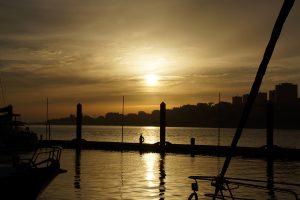 Solnedgangen over Porto