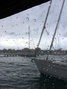 Det regner