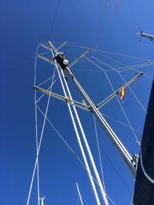 Skibber er i masten