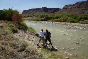 Brian og jeg med Rio Grande