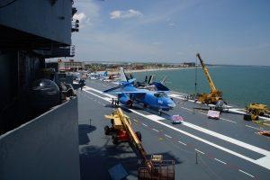 Dækket på USS Lexington