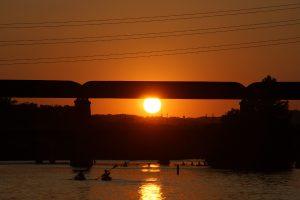 Solnedgang over Austin