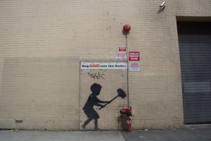 Banksy's Hammer Boy