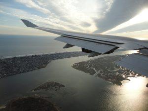 Kort før landing i JFK