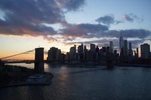 Solnedgang over Brooklyn Bridge