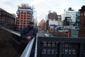 Undertegnede på The High Line